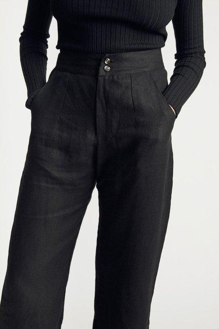 Sunshine Symbol Classic linen pant - Black