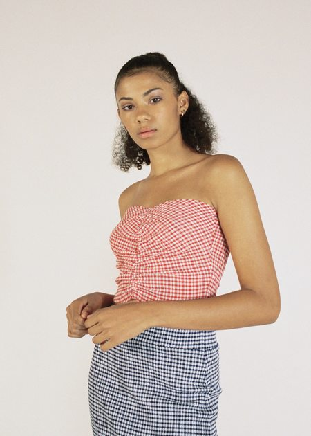 permanent vacation Ritual Boob Tube top - Red