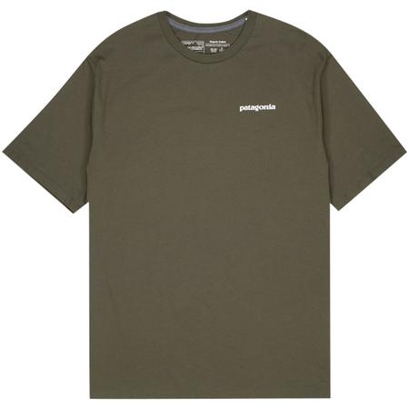 Patagonia p-6 logo organic t-shirt - Green
