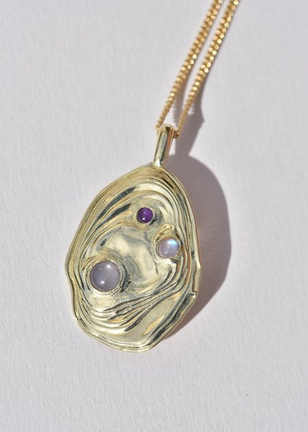 Leigh Miller Jewelry Lava Pendant - Brass