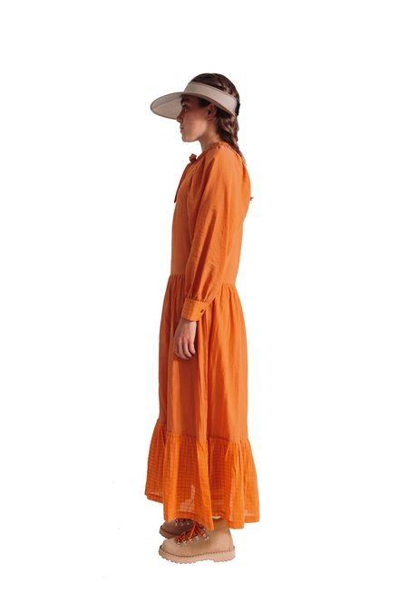 Tela Quaderno dress - Orange Little Square