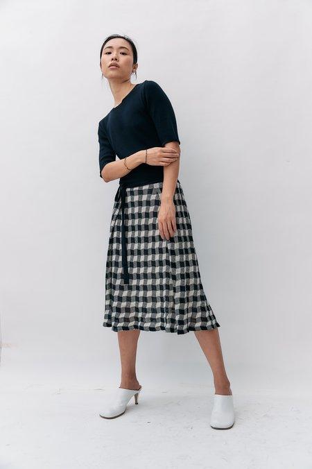 VINTAGE Yves Saint Laurent Vintage Knit Midi Dress - Black/White