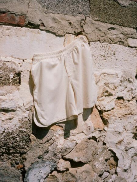By Signe Raw Silk Shorts - Ecru
