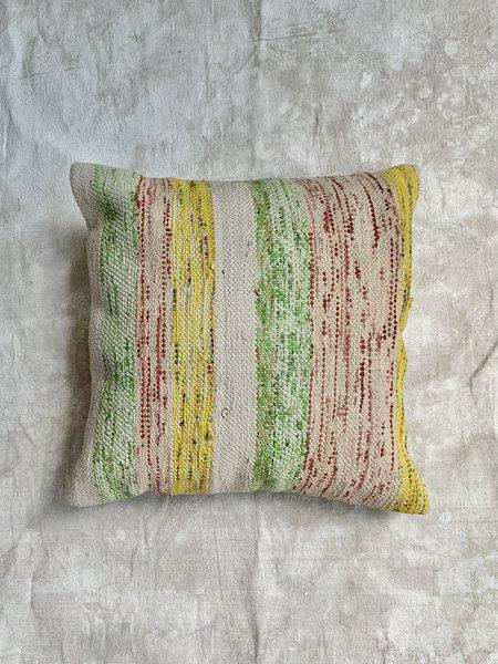 Kilim Summer Yellow Woven Pillow