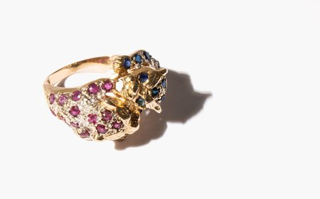 Vintage Hungry For The Lips of My Desire Ring