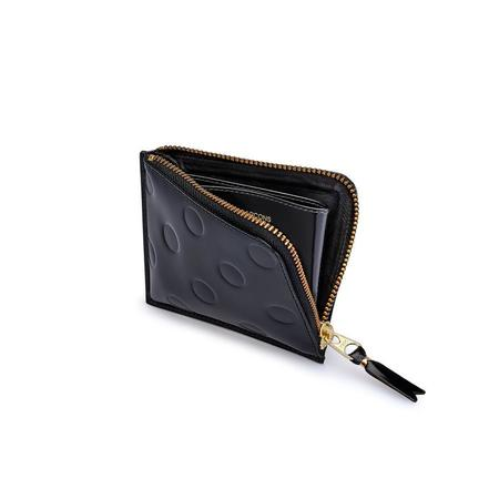 Comme Des Garçons Corner Zip Wallet - Embossed Dot Black