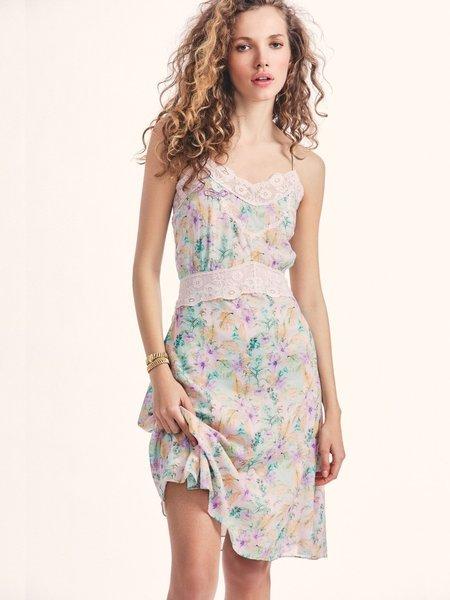 LoveShackFancy Rusalina Midi Dress - Whimsical Sage