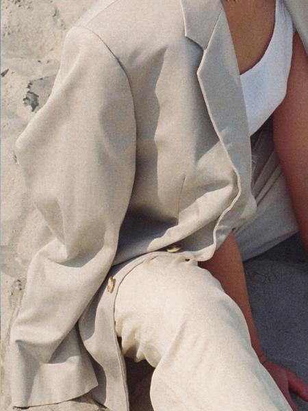 Vintage Oversized blazer - natural