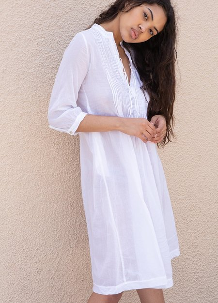 Matta Aditi Cotton Gauze Dress - White