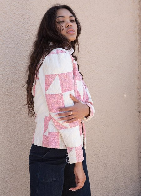 Vintage Quilted Pink Puff Jacket - PINK