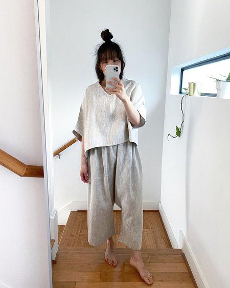 Lauren Winter Esme Linen Pant - Flax