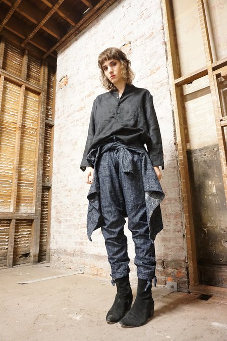 Unisex ZED silk nep denim trousers