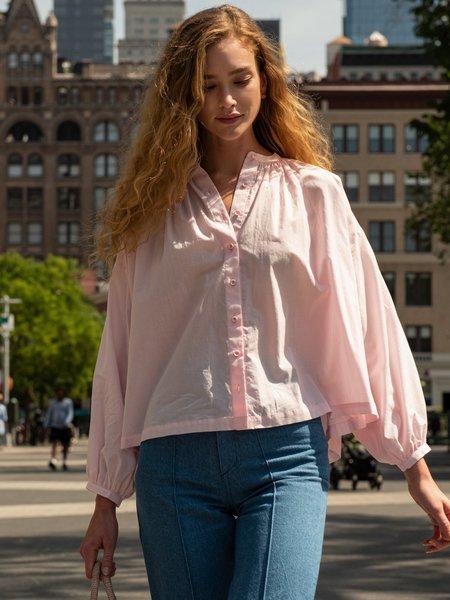 Blush. Long Volume Blouse - Light Pink