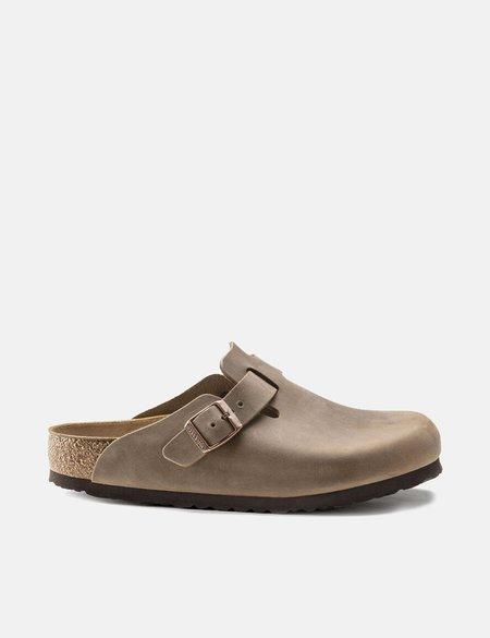 Birkenstock Boston Oiled Leather Narrow Sandals - Tabacco Brown