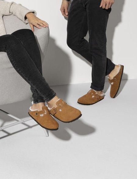 Unisex Birkenstock Boston Shearling Narrow Sandals - Mink