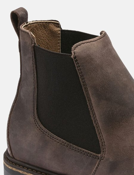 Birkenstock Stalon Narrow, Nubuck Leather Boot - Mocha Brown