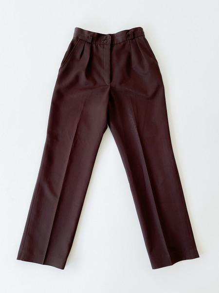 Vintage Wide Leg Slacks - Cocoa
