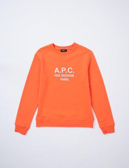 A.P.C. Rufus Sweatshirt - Coral