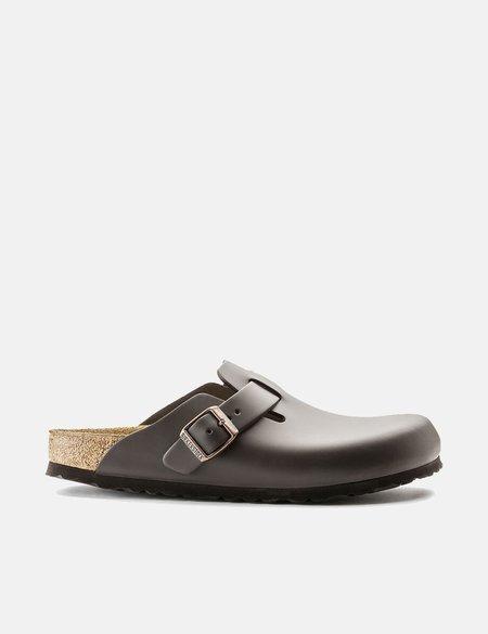 Birkenstock Boston Natural Leather Regular Sandals - Dark Brown