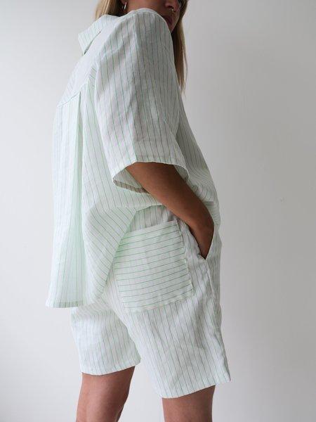 Odeyalo Mandy Bermuda - Neon Green Stripes