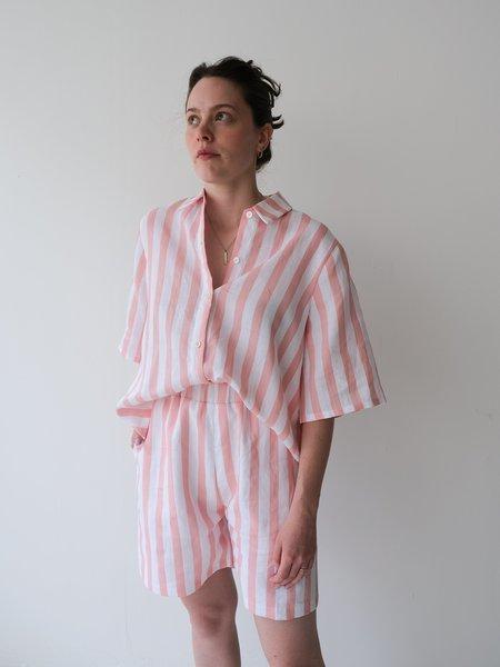 Odeyalo MANDY bermuda shorts - pink stripes