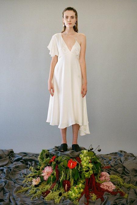 KkCo Climber Silk Charmeuse Dress - Pearl