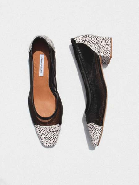 About Arianne Mina Mesh Heels - Cheetah