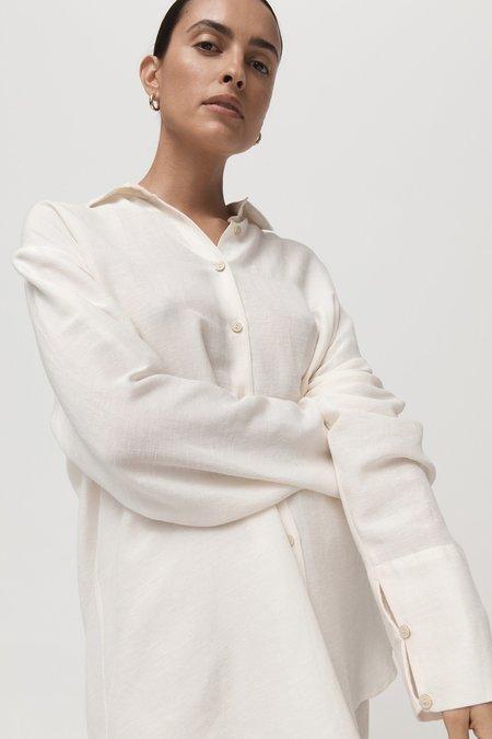 St. Agni Nicci Oversized Shirt - ivory