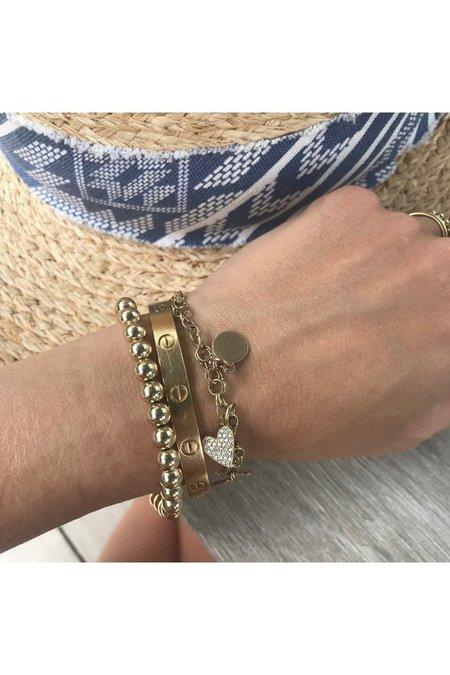 Alexa Leigh Ball Bracelet - Gold