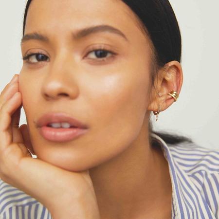 Alexa Leigh Black Onyx Huggie Hoop Earring with Charm Attachment