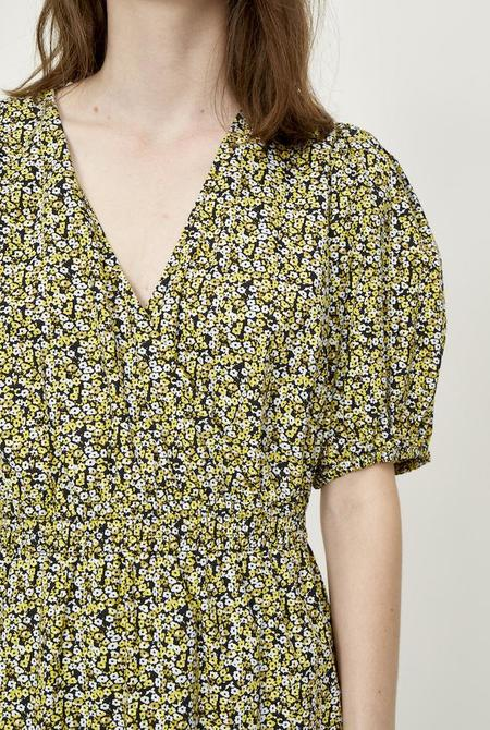Just Female Dove Dress - Yellow Floral Print