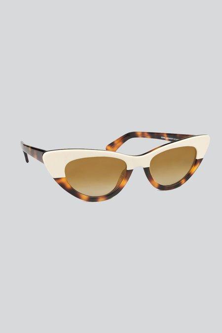 SIENNA ALEXANDER LONDON Jackie Split Sunglasses - HAVANA WHITE