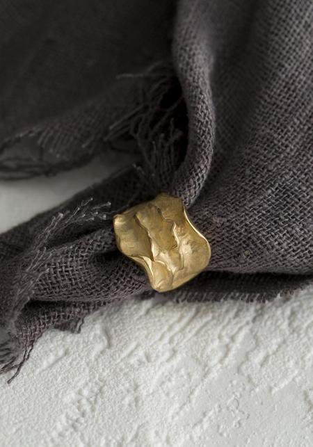 Tego Ripple Texture Ring - Gold Vermeil