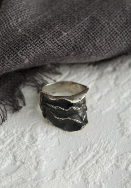Tego Ripple Texture Ring - Sterling Silver