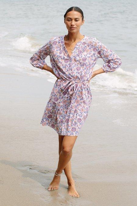 Rachel Pally Margaux Cotton Dress - Floral Block Print