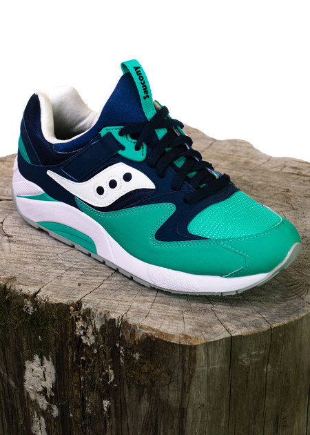 Saucony GRID 9000 (Navy/Green)