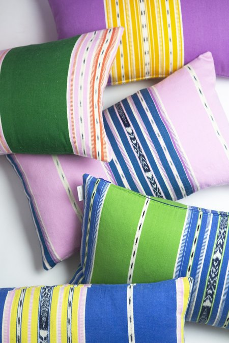Archive New York Cantel Pillow - Green/Blue