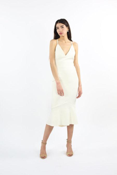 Bec & Bridge Gardenia Plunge Dress - Ivory