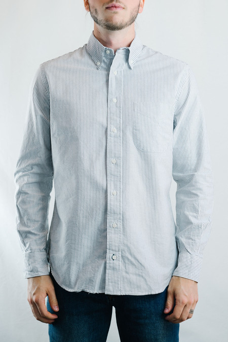 Gitman Vintage Oxford Shirt - Grey Stripe