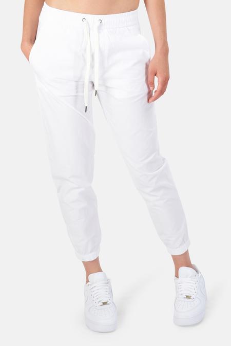 James Perse Crinkled Poplin Pants - White