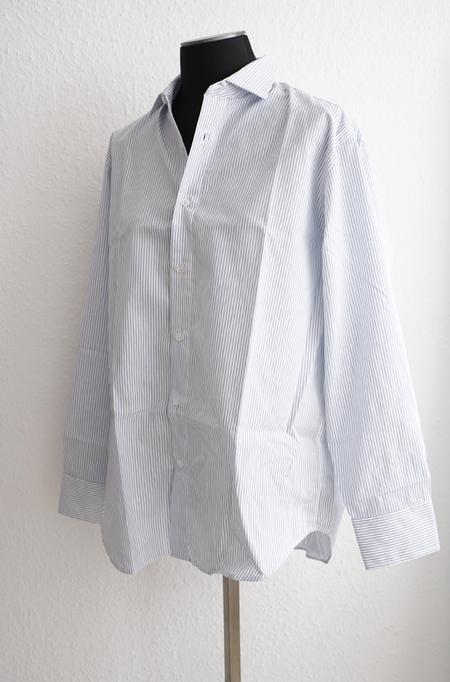 Baserange Ole Shirt - White/blue striped