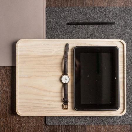 Namuos Rectangular Wooden Tray - NATURAL
