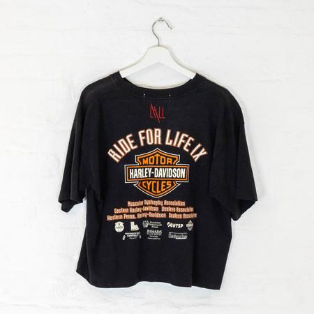 Vintage Harley T ride for life top - black