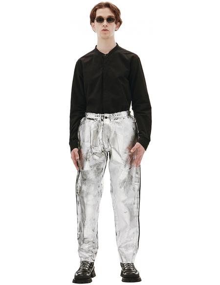 Comme des Garcons Homme plus Metallic Painted Trousers