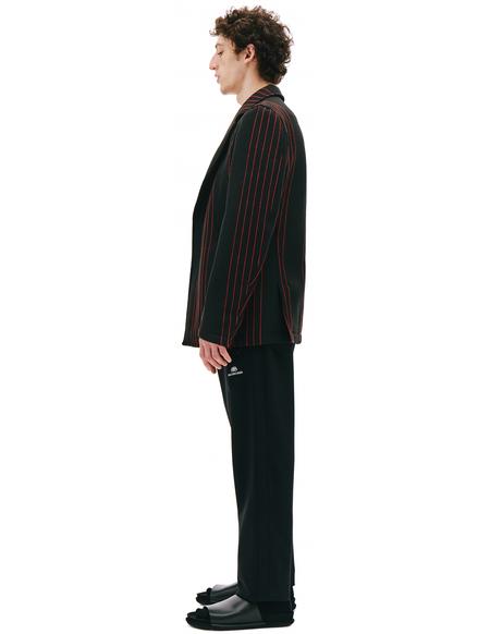 Comme des Garcons Homme plus Black Jacket With Red Stripes