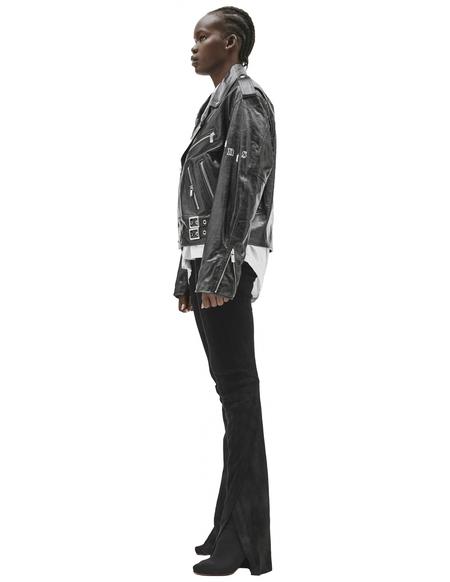 Enfants Riches Deprimes Leather Logo Jacket - Black