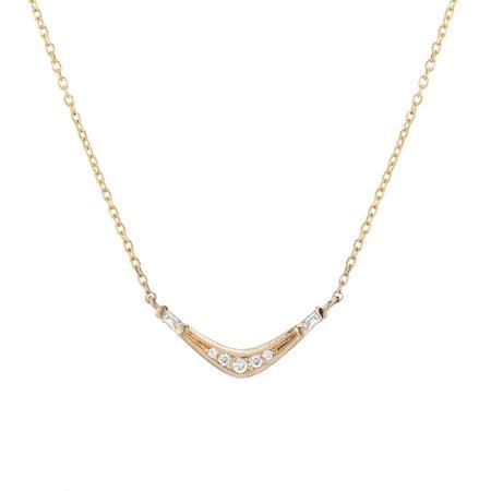 Jennie Kwon Designs Baguette Wave Necklace