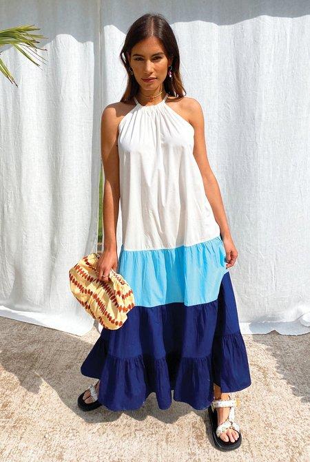 NEVER FULLY DRESSED Colour Block Trapeze Dress - Multi