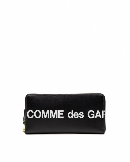 Comme des Garçons Wallet Logo Printed Wallet - Red