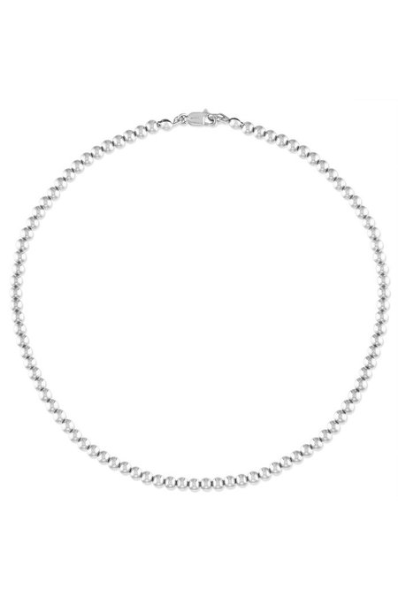 """Alexa Leigh  15"""" 4mm Ball Necklace - Sterling Silver"""